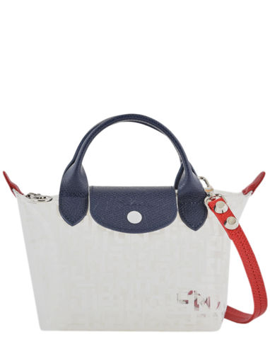Longchamp Le pliage lgp transparent Sac porté main Blanc