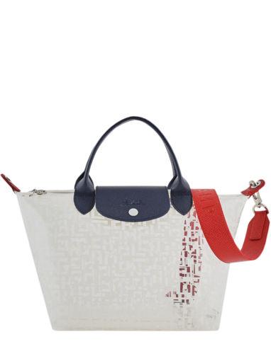 Longchamp Le pliage lgp transparent Handtas Wit