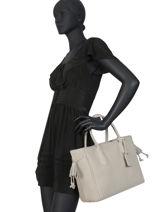 Longchamp Pénélope Sac porté main Beige-vue-porte