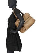 Sac Shopping Andrea Cuir Pieces Marron andrea 17102834-vue-porte