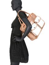 Shoppingtas Vintage Leder Paul marius Wit vintage DANDY-vue-porte