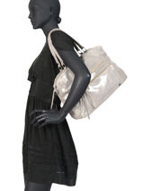 Sac Shopping Andrea Cuir Pieces Gris andrea 17102834-vue-porte