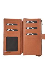 Porte Monnaie Porte-cartes Leder Etrier Bruin madras EMAD907-vue-porte