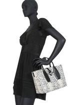 Longchamp Roseau python Sac porté main Noir-vue-porte