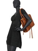 Schoudertas A4 Vintage Leder Paul marius Bruin vintage RIVDRO-M-vue-porte
