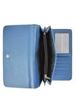 Portefeuille Idaline Lulu castagnette Blauw zip IDALINE3-vue-porte