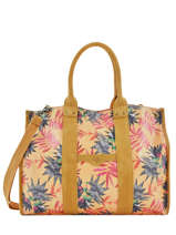 Shoppingtas A4 Formaat Palm Raffia Mila louise Geel palm 23691PLM