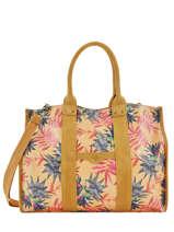 Shoppingtas A4 Formaat Palm Raffia Mila louise Geel palm 23691PLM