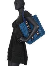 "Shoppingtas ""amour"" Van Jute The jacksons Blauw tessa T-AMOUR-vue-porte"