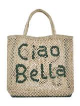 "Shoppingtas ""ciao Bella"" Van Jute The jacksons Beige word bag S-CIAOBE"