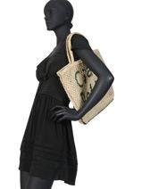 "Shoppingtas ""ciao Bella"" Van Jute The jacksons Beige word bag S-CIAOBE-vue-porte"
