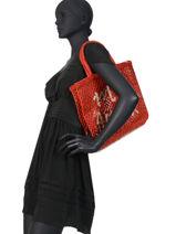 "Shoppingtas ""mon Amour"" Van Jute The jacksons Rood word bag S-MONAMO-vue-porte"