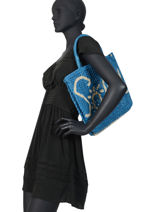 "Sac Cabas ""soleil"" Format A4 Paille The jacksons Rose word bag S-SOLEIL-vue-porte"