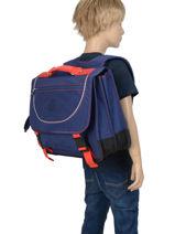 Boekentas 2 Compartimenten Kipling Blauw back to school 12074-vue-porte