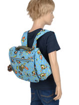 Cartable 1 Compartiment Kipling Bleu back to school 13571-vue-porte