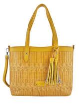 Sac Shopping Elise Fuchsia Jaune elise F9887-7