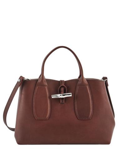 Longchamp Roseau luxe Sac porté main Noir