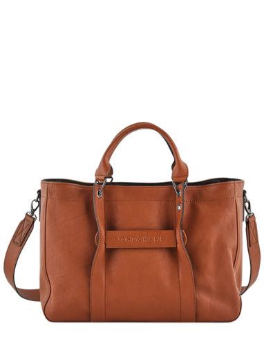 Longchamp Longchamp 3d zip Sac porté main Marron