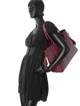Longchamp Pénélope Besace Rouge-vue-porte