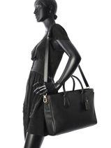 Longchamp Pénélope Serviette Noir-vue-porte