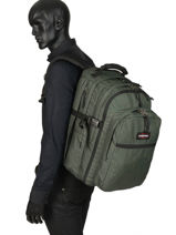 Sac à Dos Tutor 3 Compartiments Eastpak Vert pbg authentic PBGK955-vue-porte