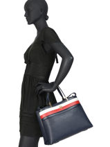 Sac Porté Main Th Core Tommy hilfiger Bleu th core AW08323-vue-porte