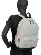 Sac à Dos 1 Compartiment Superdry Gris backpack woomen W9110026-vue-porte