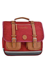 Cartable 3 Compartiments Cameleon Rood vintage chine PBVNCA41