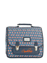 Cartable 2 Compartiments Cameleon Blauw retro PBRECA35