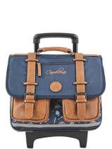 Cartable à Roulettes Garçon 2 Compartiments Cameleon Bleu vintage urban VIB-CR38