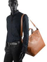 Longchamp Le foulonné Sac de voyage Marron-vue-porte