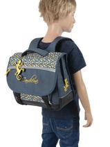 Cartable Enfant 2 Compartiments Cameleon Bleu basic BAS-CA35-vue-porte
