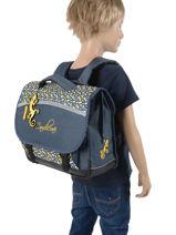 Cartable Enfant 2 Compartiments Cameleon Bleu basic BAS-CA38-vue-porte