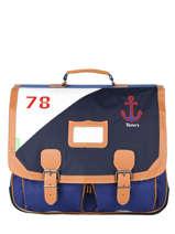 Cartable 2 Compartiments Tann's Bleu fantaisie garcon 20-41229