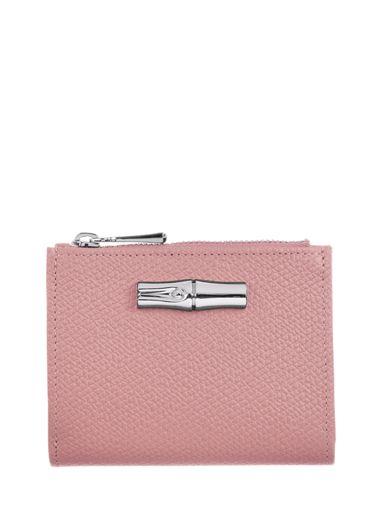 Longchamp Roseau Portefeuille Roze