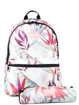 Sac à Dos 2 Compartiments + Trousse Assortie Rip curl Blanc frame deal girl LBPDL4