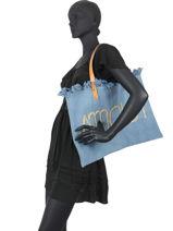 Strandtas Amour Miniprix Blauw amour AMOUR-vue-porte