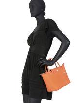 Longchamp Le pliage club Sac porté main Noir-vue-porte