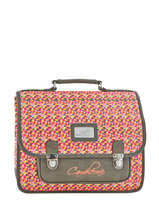 Cartable 2 Compartiments Cameleon Gris retro PBRECA35
