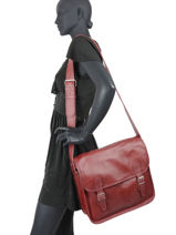 Cross Body Tas Paul marius Rood vintage M-vue-porte