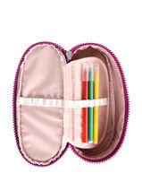 Pennenzak 1 Compartiment Kipling Roze back to school 12908-vue-porte