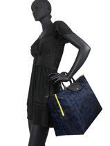 Longchamp Le pliage lgp Sac de voyage Noir-vue-porte