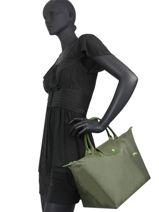 Longchamp Le pliage club Sac porté main Vert-vue-porte