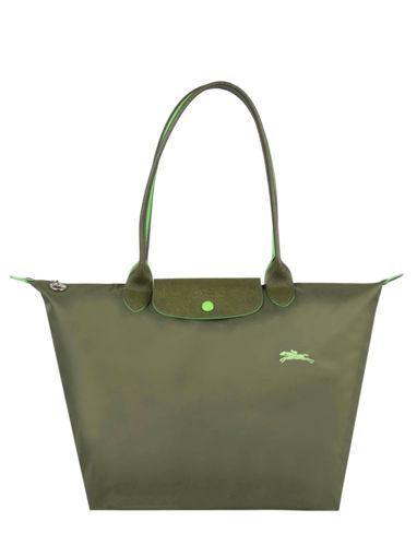 Longchamp Le pliage club Besace Vert