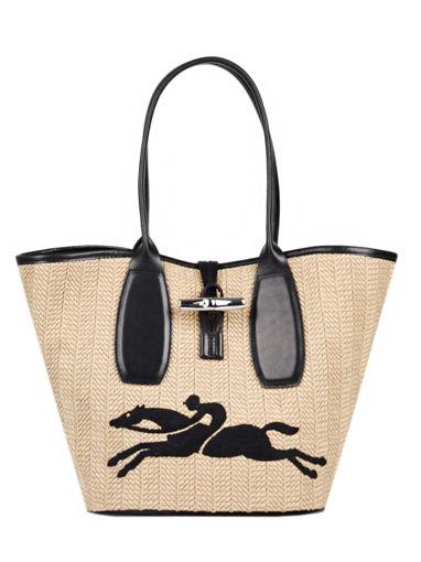 Longchamp Roseau paille Besace
