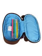 Trousse 1 Compartiment Affenzahn Marron pencil case PEN1-vue-porte