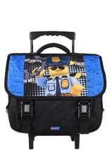 Cartable à Roulettes 2 Compartiments Lego Bleu city police chopper 3