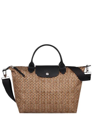 Longchamp Le pliage microknit Sac porté main Marron
