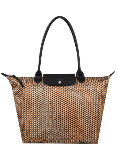 Longchamp Le pliage microknit Besace Marron