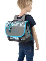 Cartable Enfant 2 Compartiments Cameleon Gris basic BAS-CA35-vue-porte